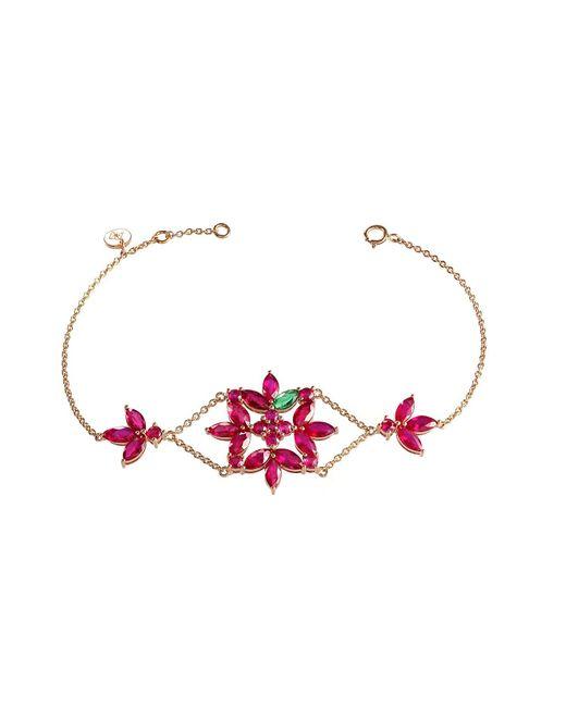 Joana Salazar | Red Ruby Blossom Large Bracelet | Lyst