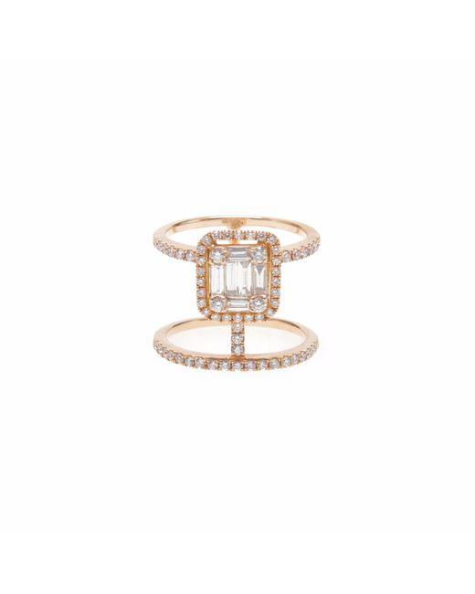 Ri Noor - Metallic Double Bar Diamond Ring - Lyst
