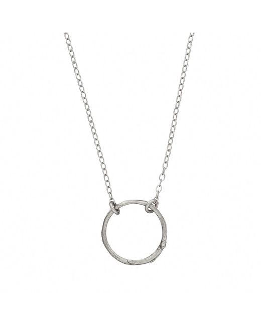 Chupi - Metallic Hawthorn Twig Infinity Necklace Silver - Lyst
