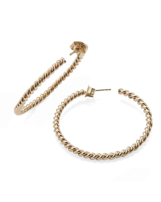 Isabel Lennse | Metallic Large Twisted Earrings Gold | Lyst