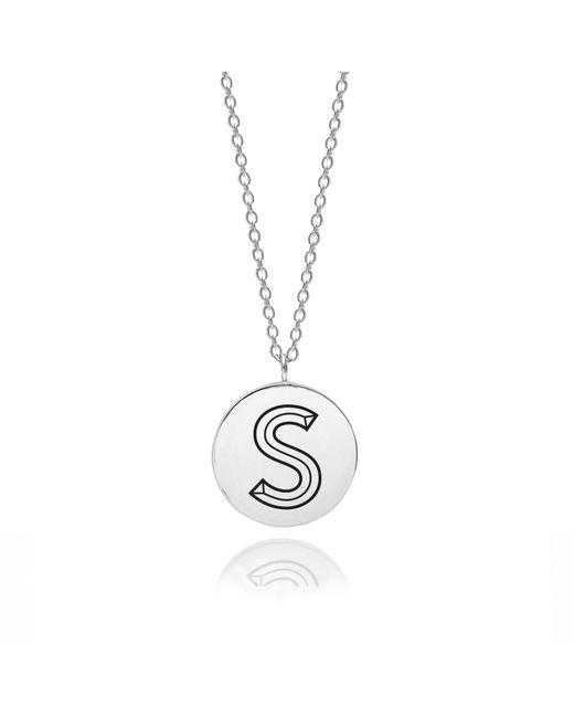 Myia Bonner - Metallic Sterling Silver Facett Initial S Pendant - Lyst