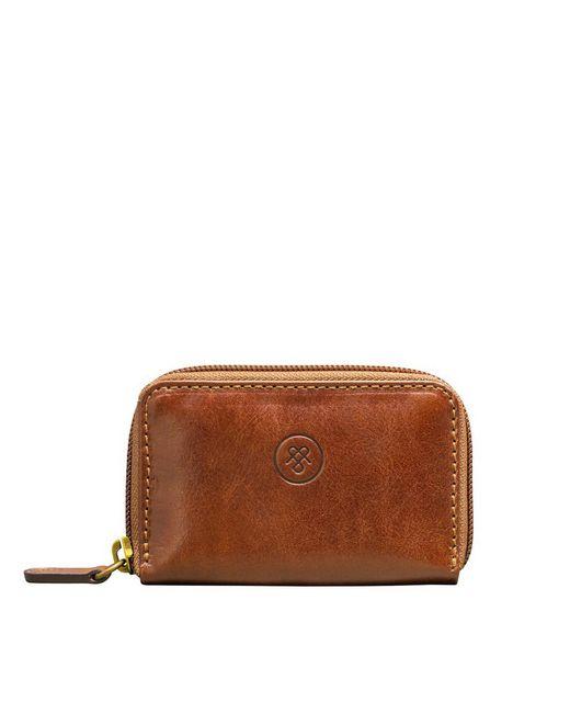 Maxwell Scott Bags | Brown Luxury Chestnut Tan Leather Key Case Vinci for Men | Lyst
