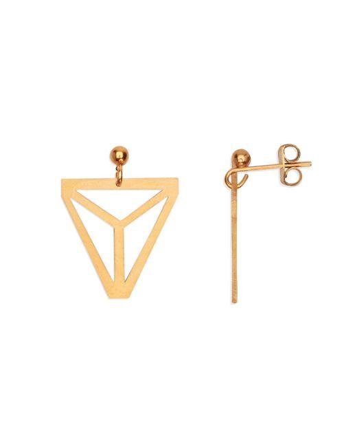 Retrospective Jewellery | Metallic Pyramid Earrings | Lyst
