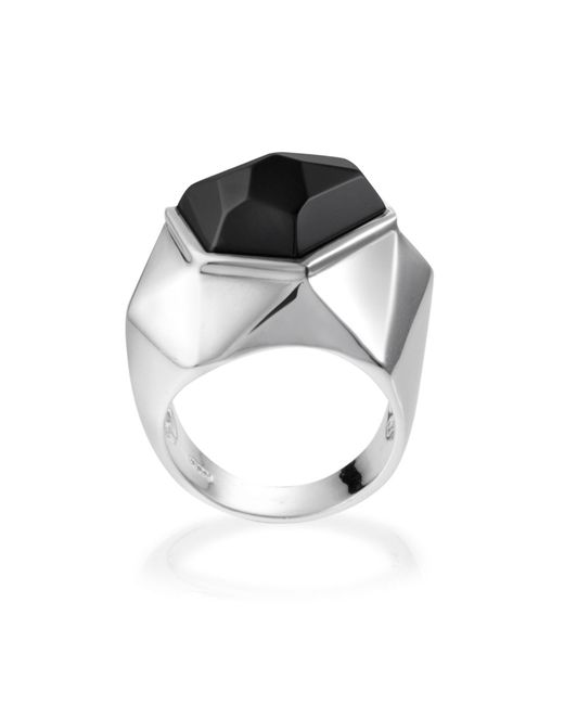 Ona Chan Jewelry | Lattice Cocktail Ring Black Agate | Lyst
