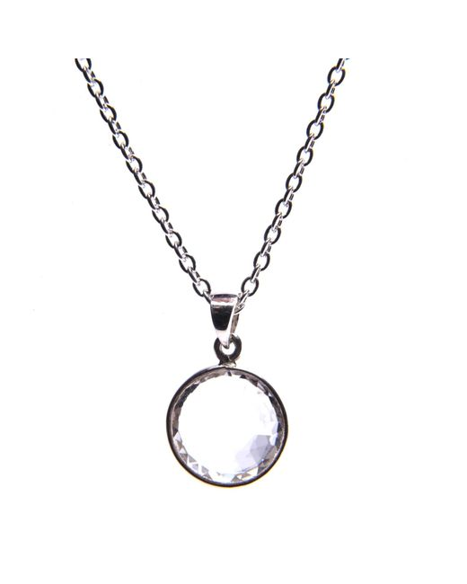 Puck Wanderlust | Metallic Clear Quartz Silver April Birthday Charm Necklace | Lyst