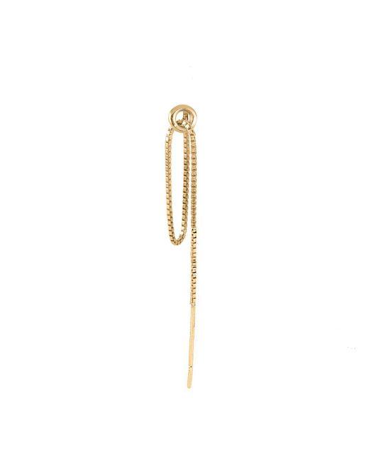 Lee Renee - Metallic Hoop & Chain Single Earring Gold Vermeil - Lyst