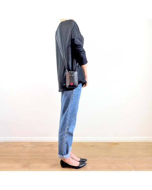 3c68f0d259c5 ... Charlie Baker London - Cambridge Leather Phone Crossbody Bag Black -  Lyst ...