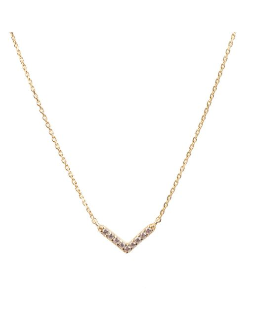 Latelita London - Metallic Small Chevron Necklace Arrow Gold - Lyst