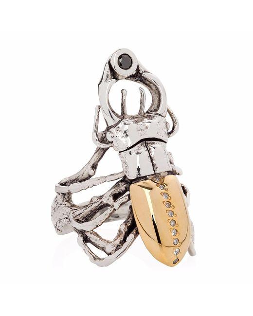 Yasmin Everley Jewellery - Metallic Gilded Stag Beetle Ring - Lyst