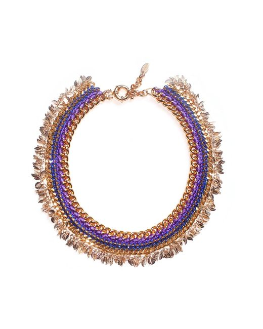 Miss High & Low   Metallic Thracian Sun Gold Necklace   Lyst