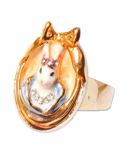 Hop Skip & Flutter | Multicolor Princess Cottontail Bunny Cameo Ring | Lyst