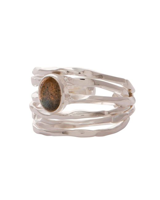 Carousel Jewels - Gray Silver Nest Ring With Labradorite - Lyst