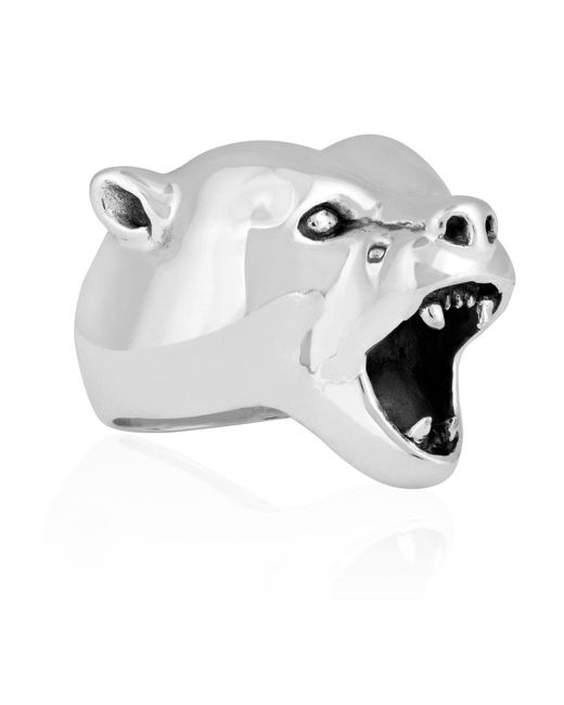 Strange Fruit - Metallic Bear Ring Silver for Men - Lyst