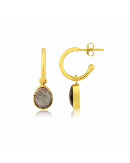 Auree Jewellery - Metallic Manhattan Gold & Labradorite Interchangeable Gemstone Earrings - Lyst