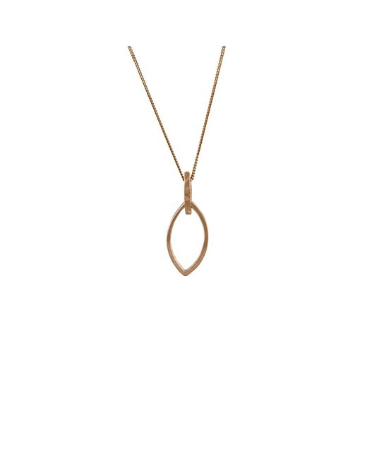 Edge Only | Metallic Marquise Slice Pendant In 14ct Gold | Lyst