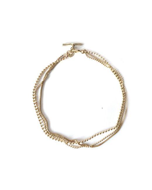 Alice Eden | Metallic Dot Dash Gold Layered Chain Bracelet | Lyst