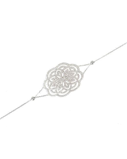 Latelita London - Metallic Lotus Bracelet Silver - Lyst