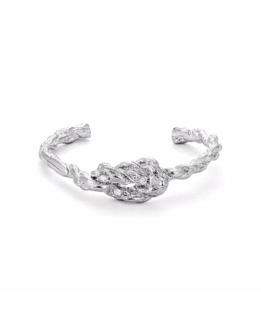 Chupi   Metallic Forget Me Knot Bangle In Silver   Lyst