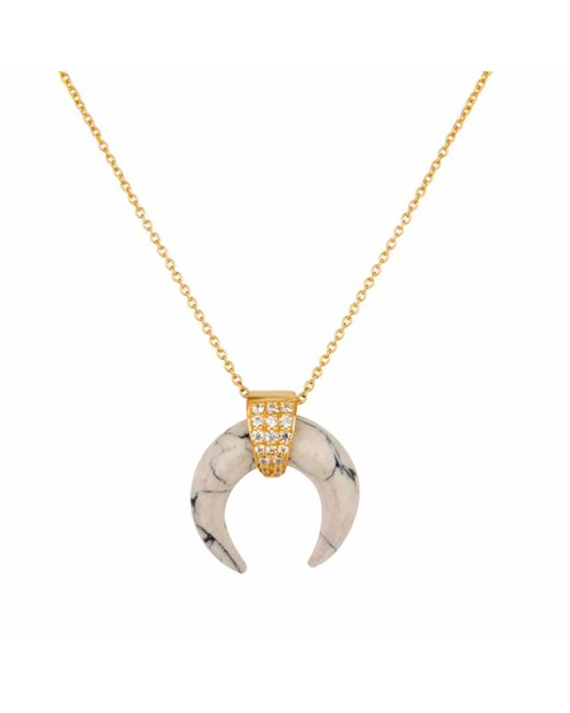 Carousel Jewels - Metallic Howlite Horn Necklace - Lyst