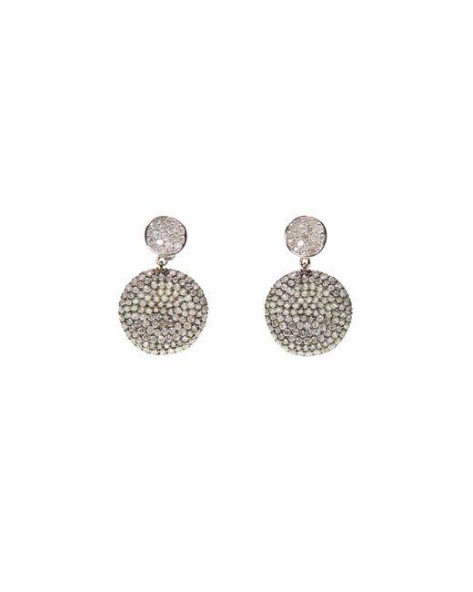 Ri Noor - Metallic Two Tone Diamond Earrings - Lyst