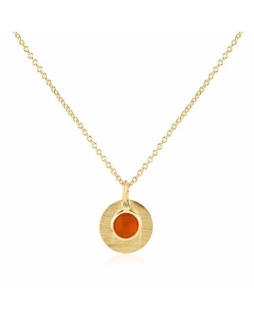 Auree Jewellery - Metallic Bali 9ct Gold July Birthstone Necklace Carnelian - Lyst