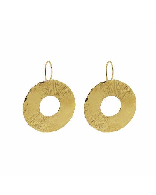 Yvonne Henderson Jewellery - Metallic Large Disc Cutout Earrings Gold - Lyst