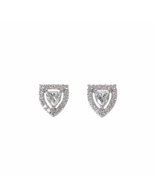 Ri Noor - Metallic Fancy Shield Shape Diamond Stud Earrings - Lyst