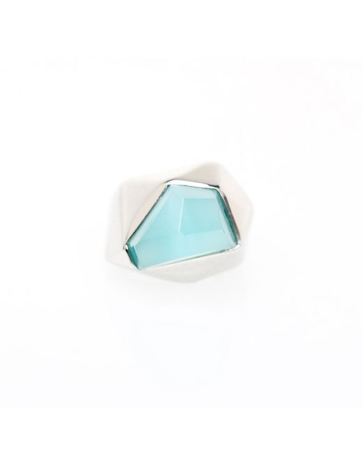 Ona Chan Jewelry | Lattice Cocktail Ring Blue | Lyst