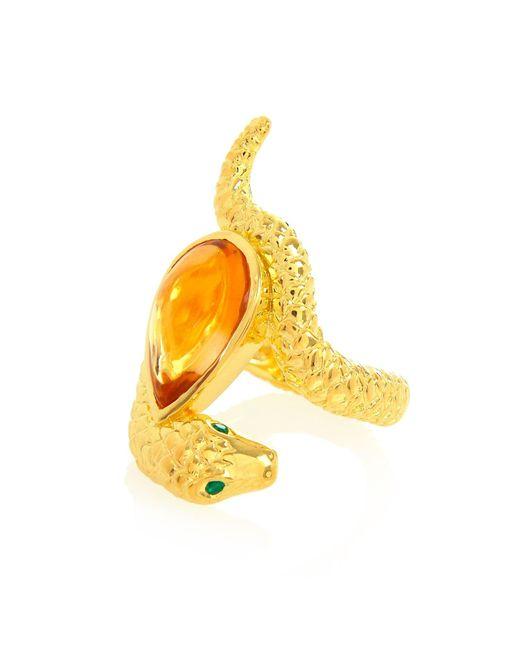 Alexandra Alberta | Metallic Arizona Citrine Ring | Lyst