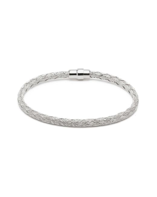 Durrah Jewelry - Metallic Silver Woven Bracelet For Him for Men - Lyst