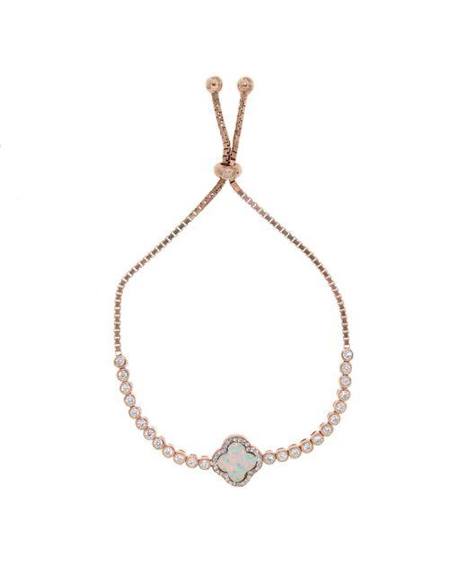 Cosanuova - Metallic Rose Opal Clover Bracelet - Lyst