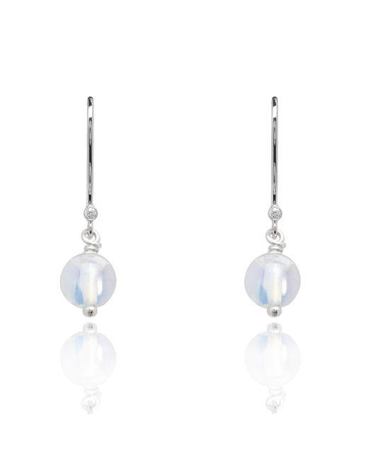 Kaizarin White October Birthstone Earrings In Opal