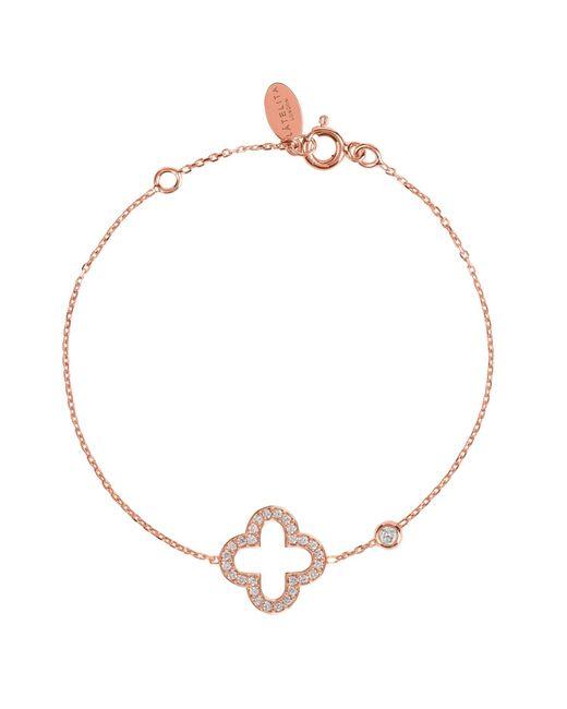 Latelita London - Metallic Open Clover Bracelet Rosegold - Lyst
