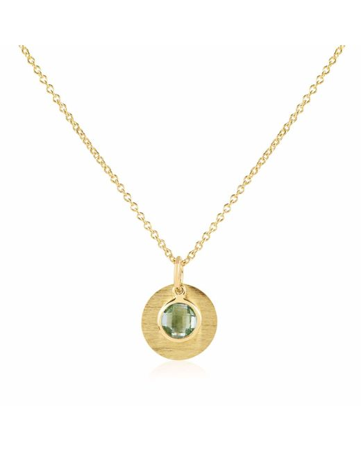 Auree Jewellery - Metallic Bali 9ct Gold August Birthstone Necklace Green Amethyst - Lyst