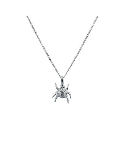 Edge Only - Metallic Spotted Bug Pendant Silver - Lyst