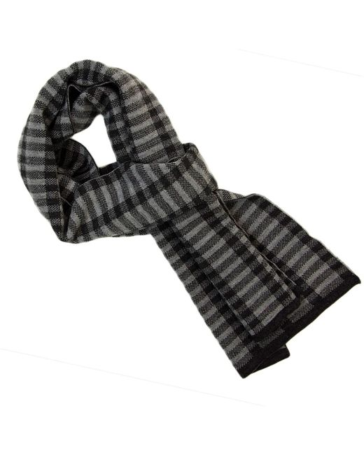 40 Colori Gray Charcoal Geometric Wool Scarf for men