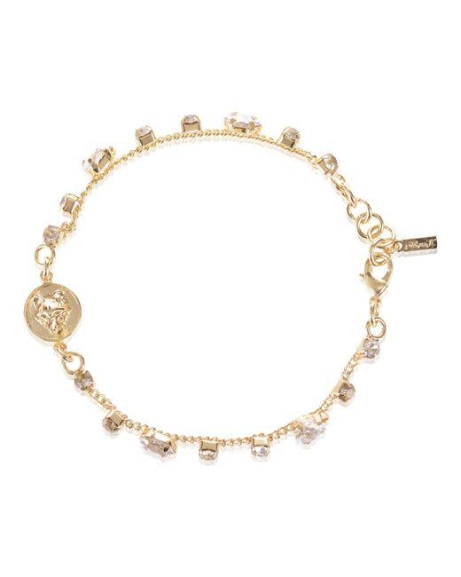 Alexa K | Metallic Crystallised Bracelet Gold | Lyst