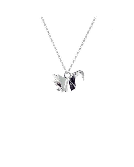 Origami Jewellery - Metallic Mini Swan Necklace Sterling Silver - Lyst
