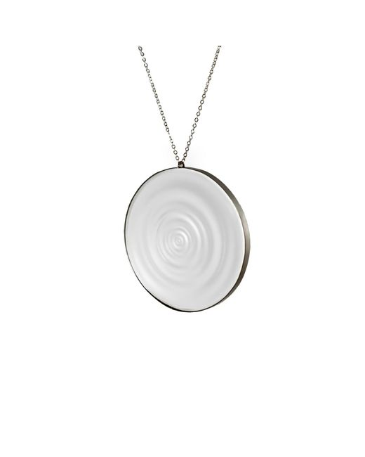 MARIE JUNETM Jewelry - Metallic Full Ripples Clear Pendant - Lyst