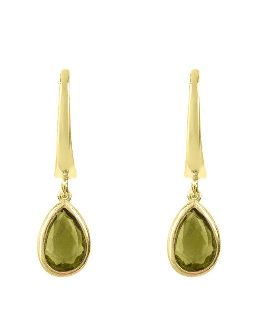 Latelita London | Metallic Pisa Mini Teardrop Earring Gold Peridot | Lyst