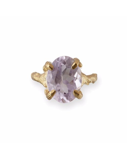 Chupi | Metallic Beauty In The Wild Ring In Amethyst & Gold | Lyst