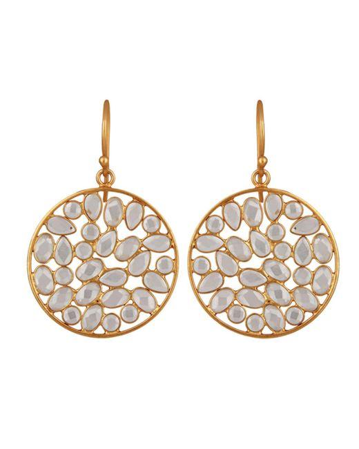 Carousel Jewels | Metallic Sliced Crystal Drop Earrings | Lyst