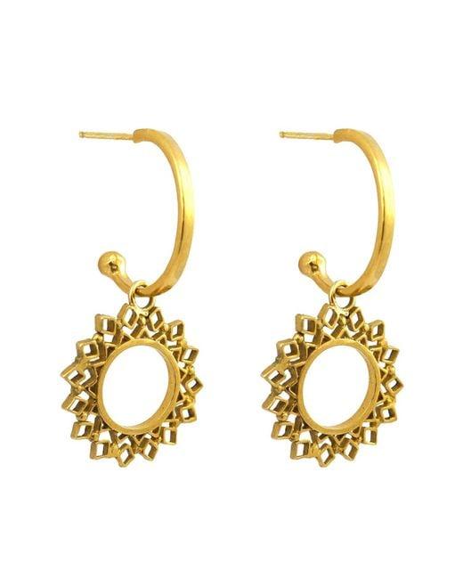 Annabelle Lucilla Jewellery - Metallic Spectrum Charm Hoops Gold - Lyst