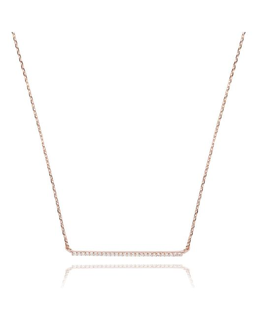 Astrid & Miyu - Metallic Walk The Line Big Bar Necklace In Rose Gold - Lyst