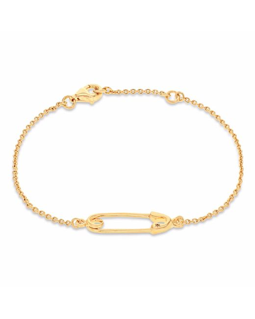 True Rocks - Metallic Safety Pin Bracelet Yellow Gold - Lyst