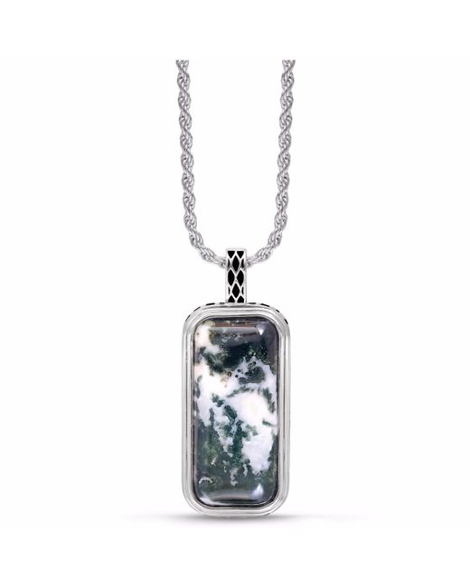 LMJ - Multicolor Tree Agate Stone Tag for Men - Lyst