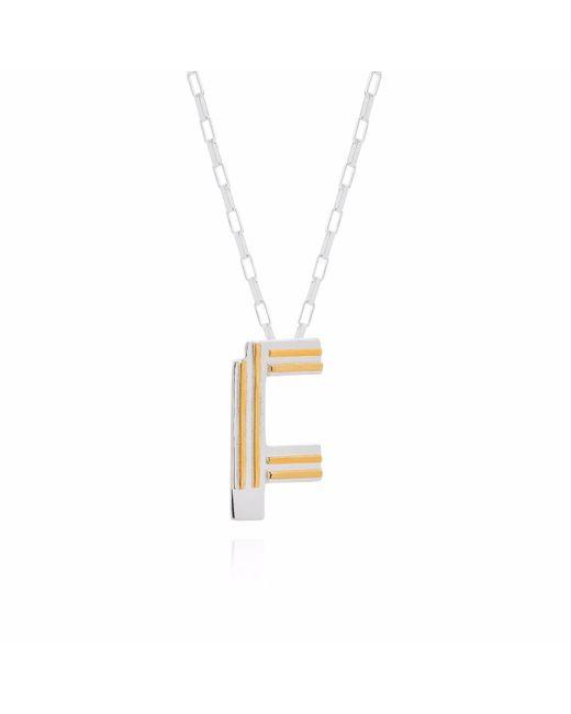 Yasmin Everley Jewellery | Metallic Saxony F Initial Necklace | Lyst