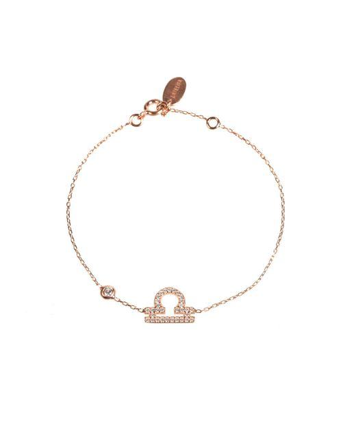Latelita London - Metallic Zodiac Bracelet Rosegold Libra - Lyst