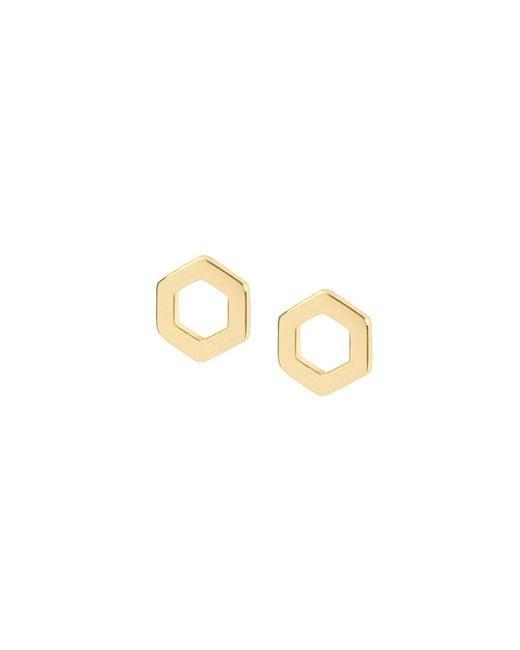 Matthew Calvin - Metallic Hexagon Studs Gold - Lyst
