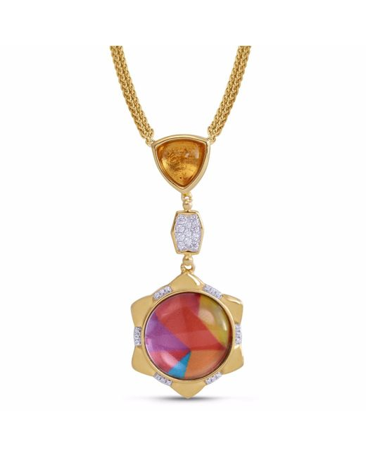 LMJ - Metallic Girl On Fire Necklace - Lyst
